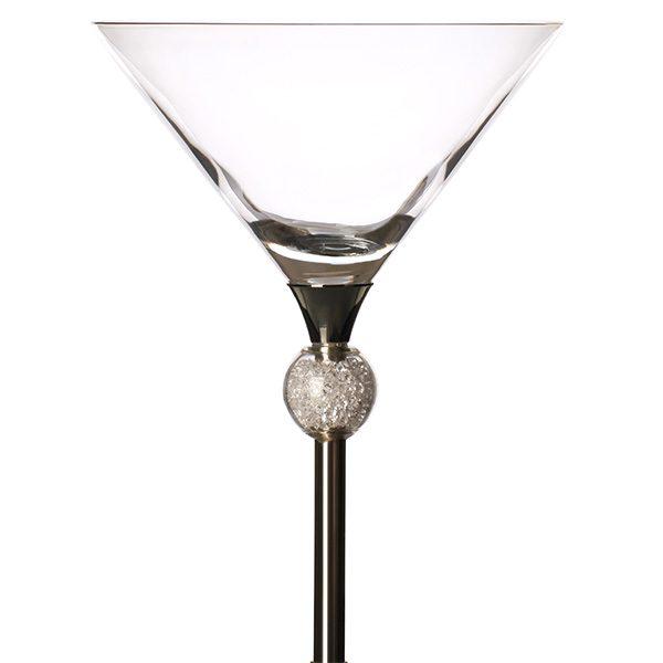Crstal Ball Filled Cocktail Glass