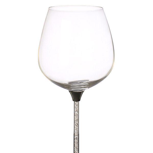 Crystal Filled Stem Red Wine Glass