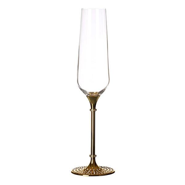 Bling Bottom Champagne GlassGold