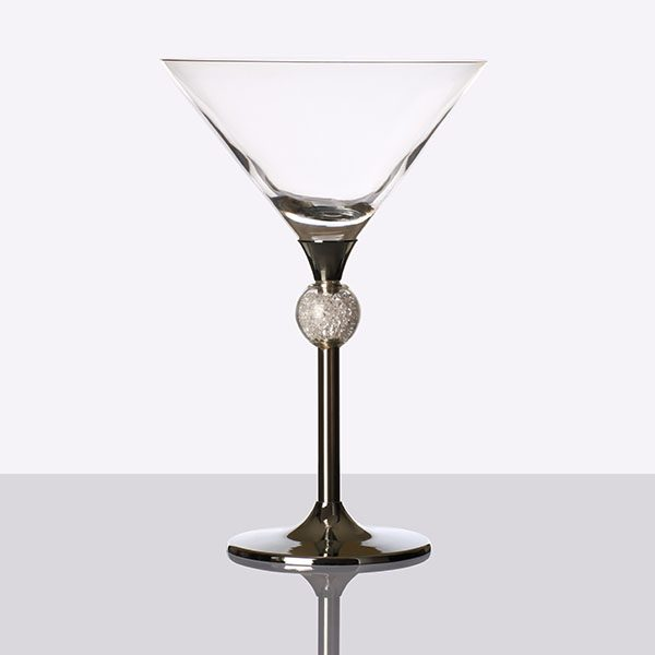 Crystal Ball Filled Cocktail Grey