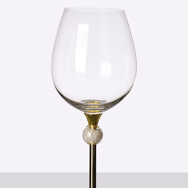 Crystal Ball Filled Wine Grey