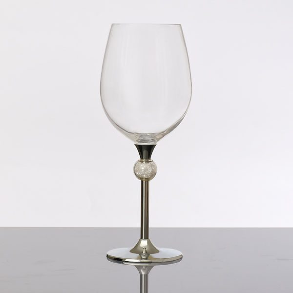 Crystal Ball Filled Wine Silver (2)