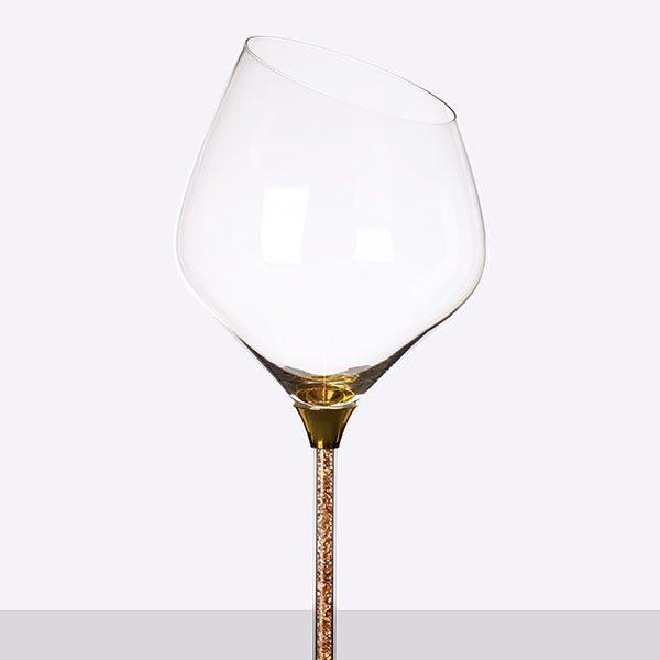 Crystal Filled Stem Sloped Red Wine Grey (2)