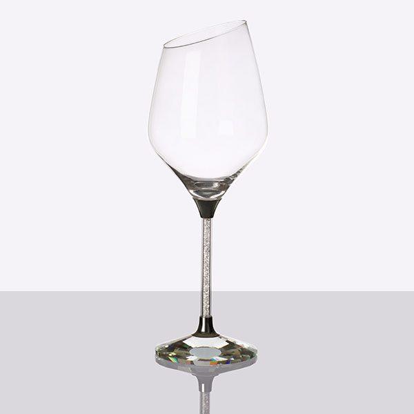 Crystal Filled Stem Sloped White Wine Grey (2)