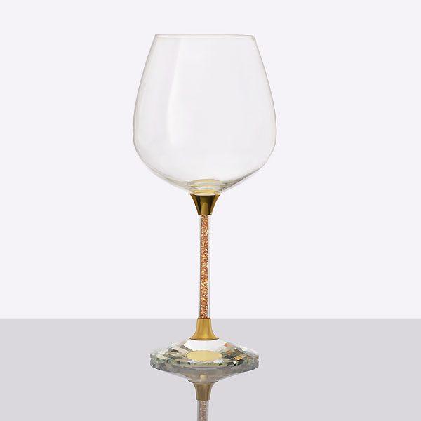 Crystal Filled Stem Wine Gold (2)