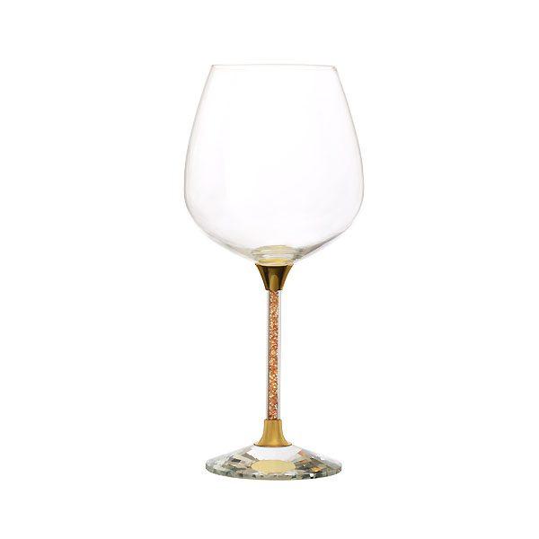 Crystal Filled Stem Wine Gold