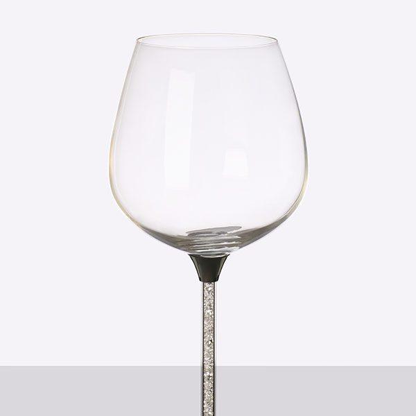Crystal Filled Stem Wine Grey