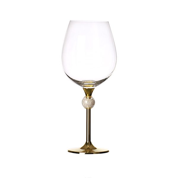 Crystal Ball Filled Wine Glass