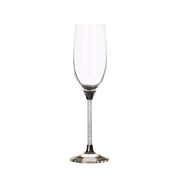 Crystal Stem Filled Champagne Glass