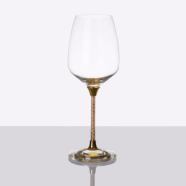 Crystal Filled Stem White Wine Glass (2)