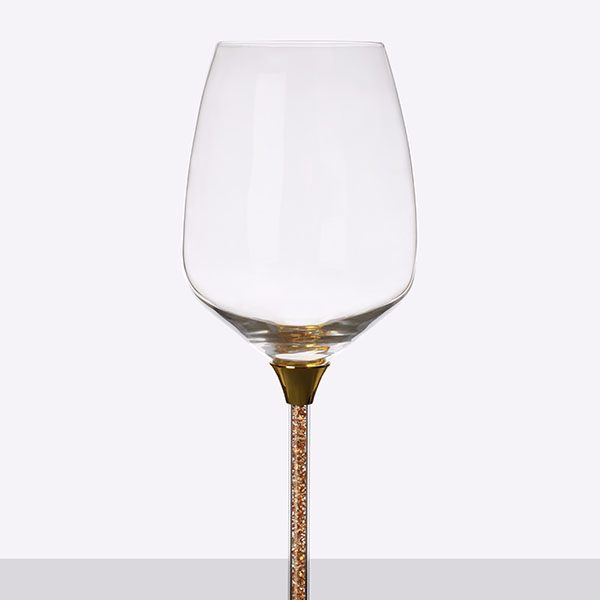 Crystal Filled Stem White Wine Glass